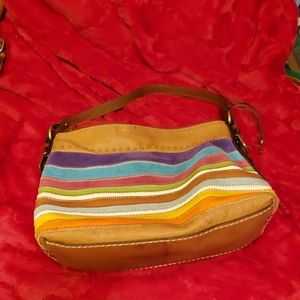 Multi colored Fossil purse with studs